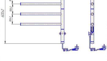 Рушникосушка Веер-I  600х445/50 электр.