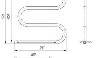 Рушникосушка Змійка 30  530х500/500 + полички