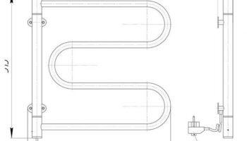 Рушникосушка Ласо-І 550×520/120 електр.
