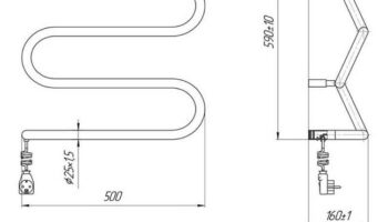 Рушникосушка Ліана-І 600х500/130 електр.