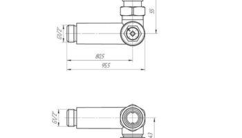 Комплект кранів з термоголовкою