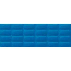 Blue glossy pillow 25X75