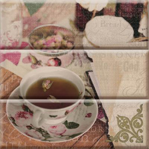 TEA FLOWERS Composicion 30 x 30