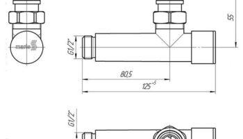 К-кт кутових кранів для радіаторів