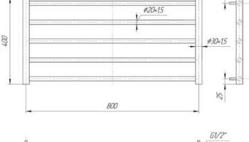 Рушникосушка Класік Сіті 400х830/800