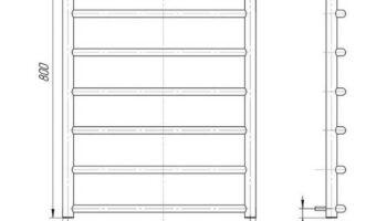 Рушникосушка Класік 800х530/500