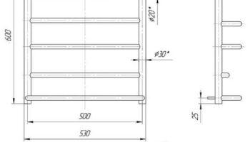 Рушникосушка Люкс 600х530/500