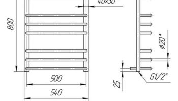 Рушникосушка Преміум Стандарт 800х540/500
