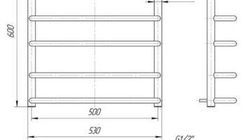 Рушникосушка Стандарт 600х530/500
