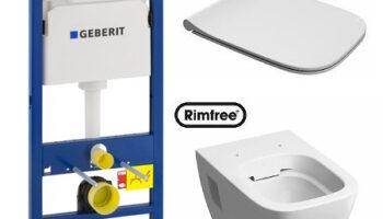 Комплект: инсталляция Geberit Duofix , унитаз Kolo Modo Rimfree, сиденье дюропластовое Soft-close Slim