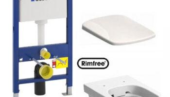 Комплект: инсталляция Geberit Duofix , унитаз Kolo Nova Pro Rimfree, сиденье дюропластовое Soft-close