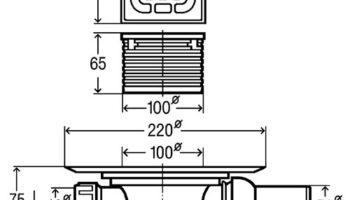 Трап д/ванних кімнат 100X100 (557119)