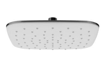983.10 Верхній душ ABS кв - білий 250 мм