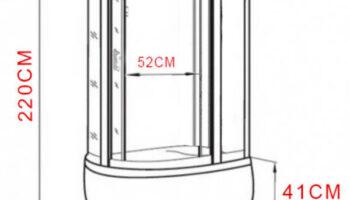 Душевой бокс Atlantis AKL 120P(XL) ECO (R )