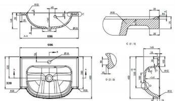 Раковина меблева ALVA 600X430 (3006101)