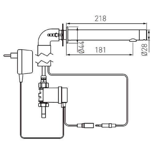 BORA SENSOR POWER-SAFE бесконтактный настенный смеситель BBB121S
