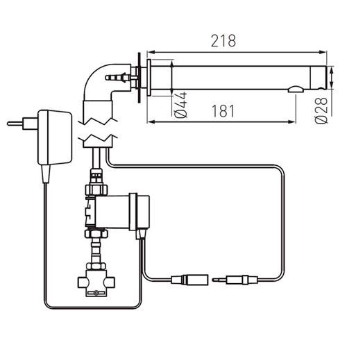 BORA SENSOR POWER-SAFE PRE-MIXED бесконтактный BBB121SM