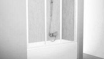 Штора для ванни AVDP3- 120 Білий RAIN