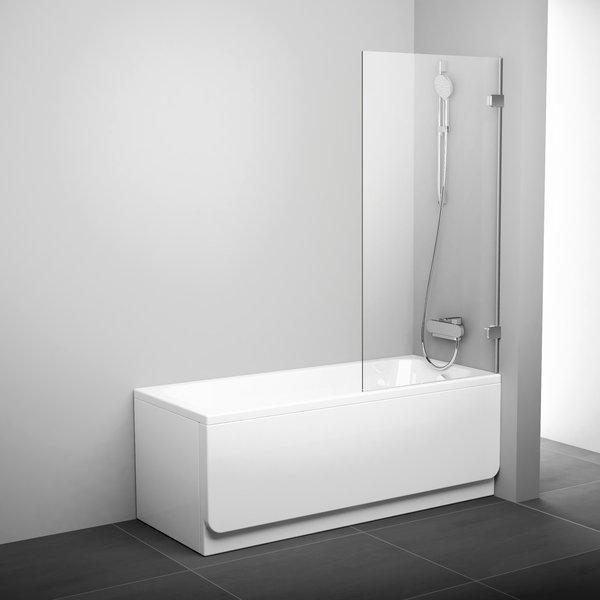 Штора для ванни BVS1-80 Хром TRANSP