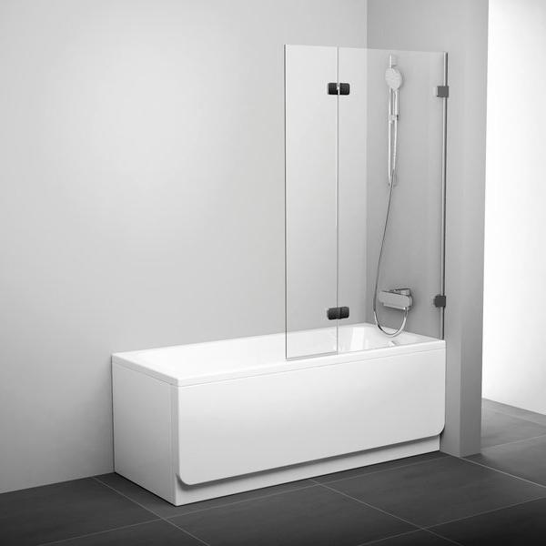 Штора для ванни BVS2-100 L Хром TRANSP
