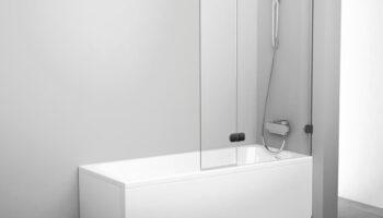 Штора для ванни BVS2- 100 R Хром TR
