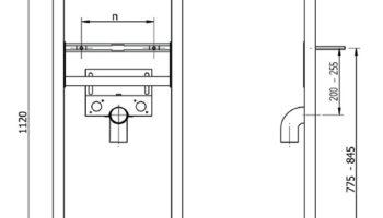 Стелаж металевий під умивальник