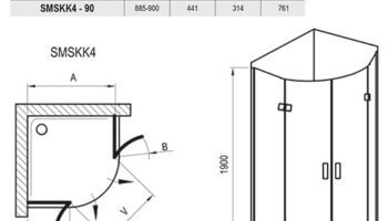 Душова кабіна SMSKK4-80 Хром TRANSP
