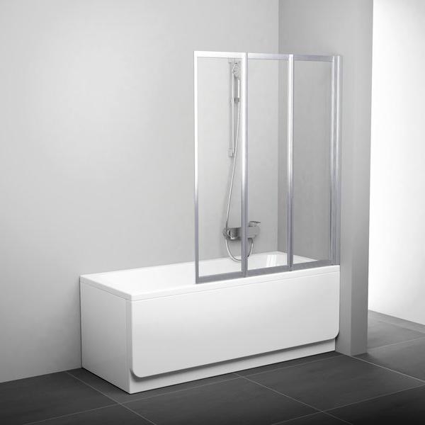 Штора для ванни VS3 100 Білий RAIN