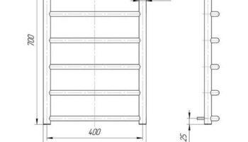 Рушникосушка Класік 700х430/400