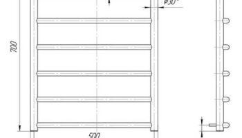 Рушникосушка Класік 700х530/500
