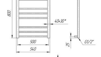 Рушникосушка Преміум Класік 800х540/500
