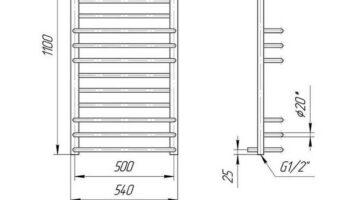 Рушникосушка Преміум Люкс 1100х540/500