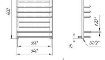 Рушникосушка Преміум Люкс 800х540/500