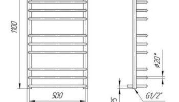 Рушникосушка Преміум Стандарт 1100х540/500
