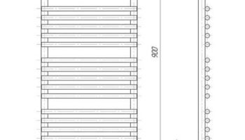 Рушникосушка Преміум Турин 900х430/400