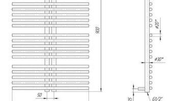 Рушникосушка Рим 900х560/50