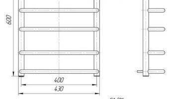 Рушникосушка Стандарт 600х430/400