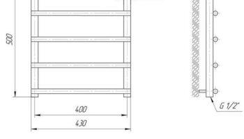 Рушникосушка Турин 500х430/400