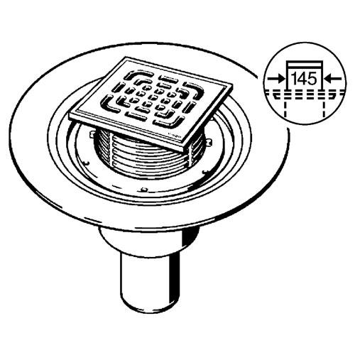 Трап д/ванних кімнат 150X150 (557188)