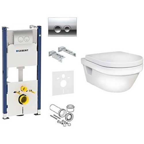 5G84 Hygienic Flush Унітаз з кришкою softclose + Комплект 4-в-1 GEBERIT 458.121.21.1