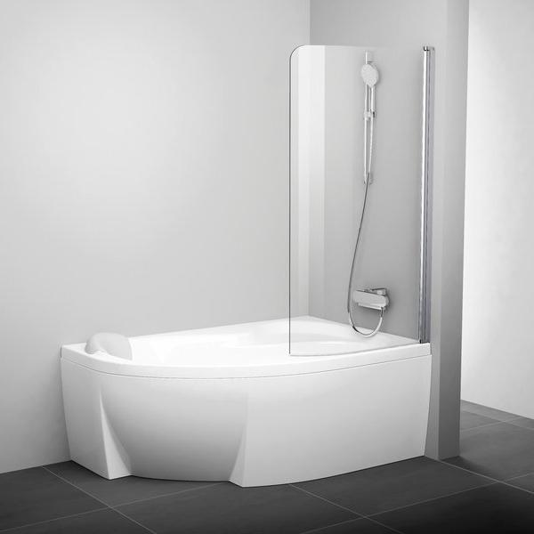 Штора для ванни CVSK1 ROSA 160/170 L Біл TR